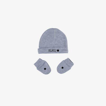 כפפות וכובע מעוצב לתינוק
