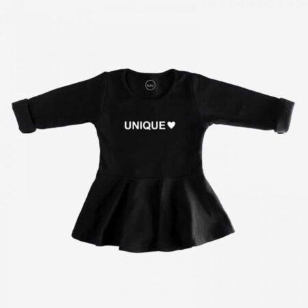 שמלה שחורה מעוצבת לתינוק