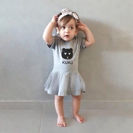 שמלה אפורה לתינוקות